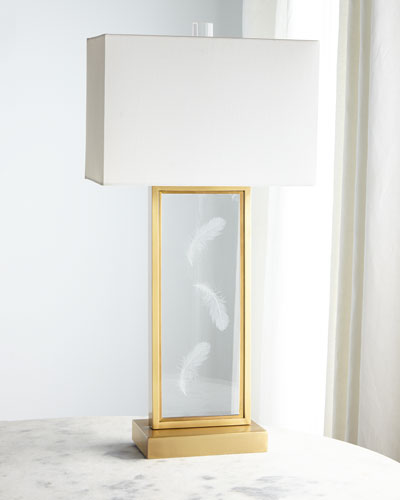 Floating Ghost Feather Table Lamp