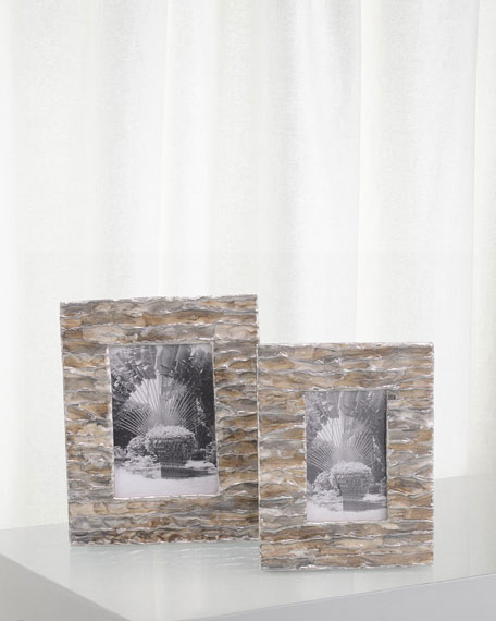 Enameled Photo Frames, Set of 2