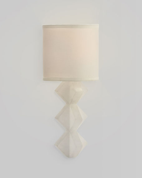 Single Light Alabaster Wall Sconce
