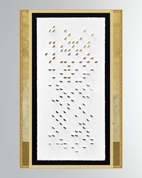'Gold Cascade Shadowbox 1' Wall Art