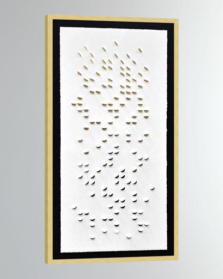 'Gold Cascade Shadowbox 2' Wall Art