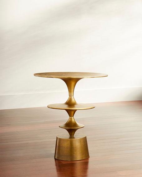Argus Golden Side Table