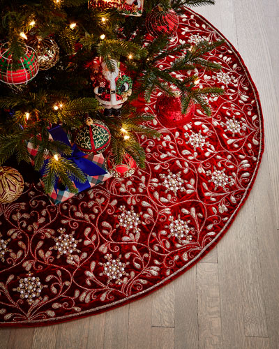 Beaded Tree Skirt  60