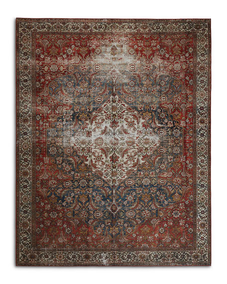 Lena Power-Loomed Rug, 2' x 4'