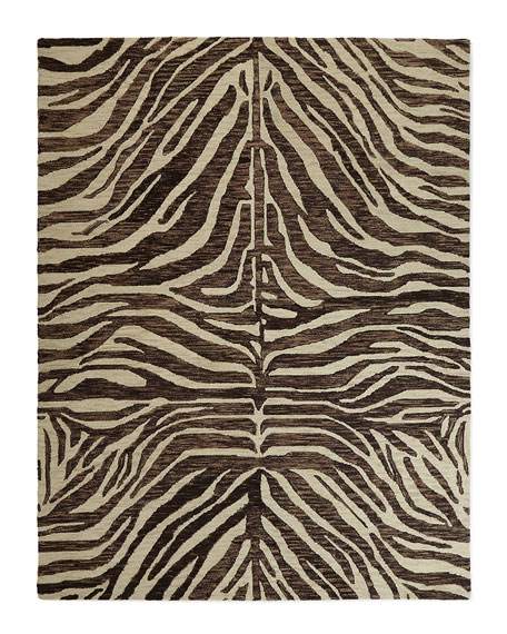 Panther Hand-Loomed Rug, 2' x 4'