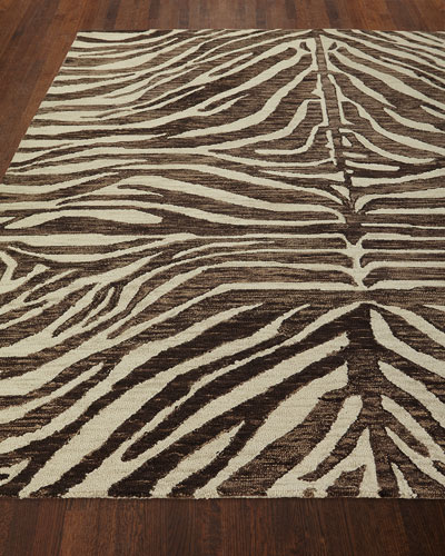 Panther Hand-Loomed Rug  5' x 8'