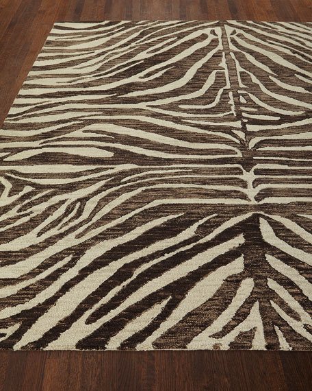 Panther Hand-Loomed Rug, 5' x 8'
