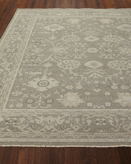 Silver Sky Hand-Knotted Rug, 10' x 14'
