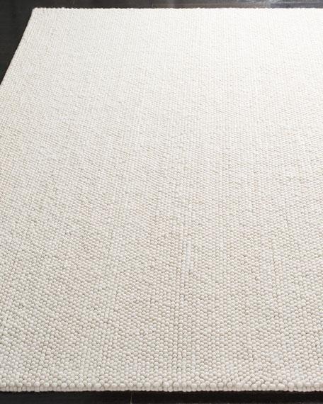 """Carisbrooke Cream Hand-Woven Runner, 2'3"""" x 8'"""