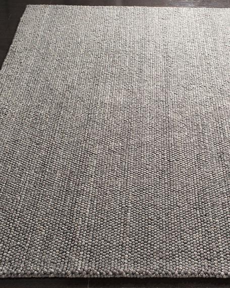Carisbrooke Gray Hand-Woven Runner, 2.6' x 8'
