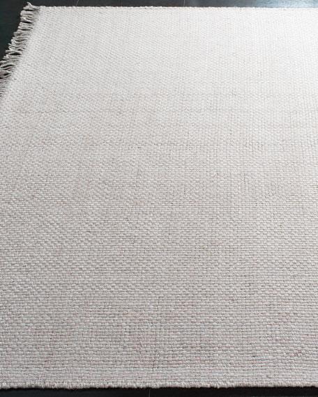 Amalie Pewter Hand-Woven Flat Weave Rug, 9' x 12'