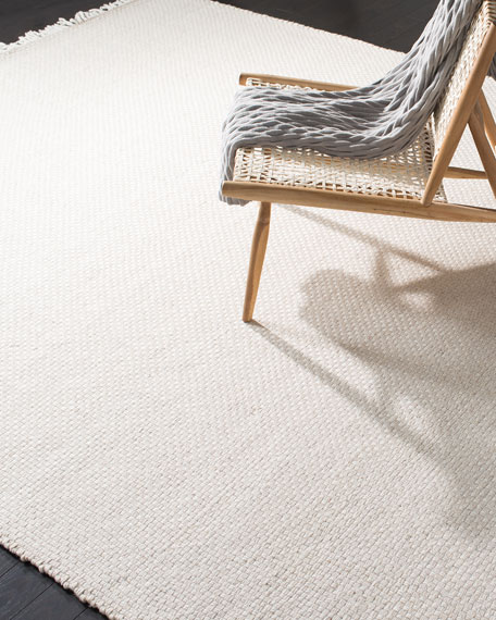 Amalie Bone Hand-Woven Flat Weave Rug, 4' x 6'