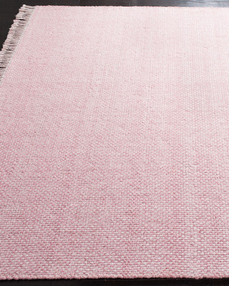 Amalie Pink Hand-Woven Flat Weave Rug, 5' x 8'