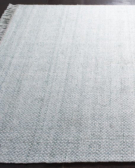 Amalie Sage Hand-Woven Flat Weave Rug, 4' x 6'