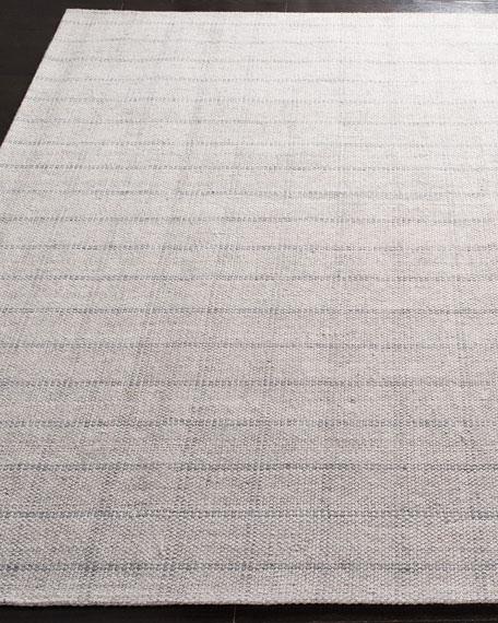 Tamworth Silver Check Hand-Woven Rug, 8' x 10'