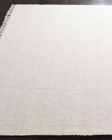 Amalie Bone Hand-Woven Flat Weave Rug, 5' x 8'