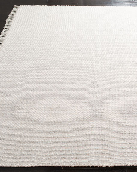 Amalie Bone Hand-Woven Flat Weave Rug, 9' x 12'