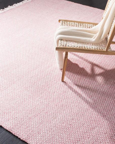 Amalie Pink Hand-Woven Flat Weave Rug, 4' x 6'