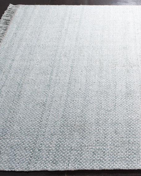Amalie Sage Hand-Woven Flat Weave Rug, 5' x 8'