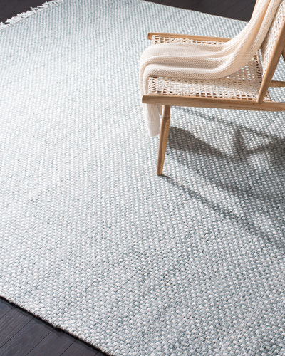 Amalie Sage Hand-Woven Flat Weave Rug  5' x 8'