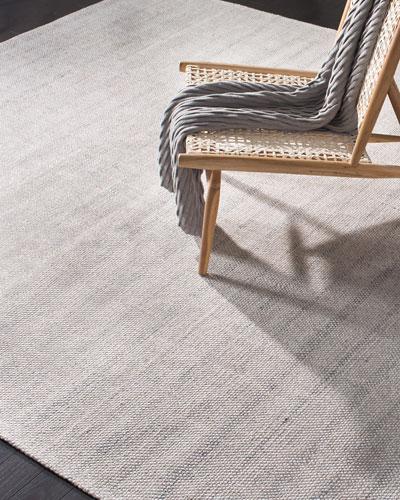 Miles Silver Stripe Flat Weave Rug  4' x 6'