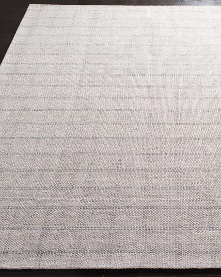 Tamworth Silver Check Hand-Woven Rug, 5' x 8'