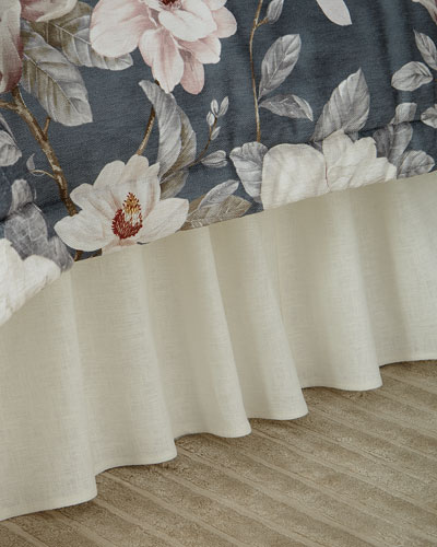 Linen Ruffled Queen Dust Skirt