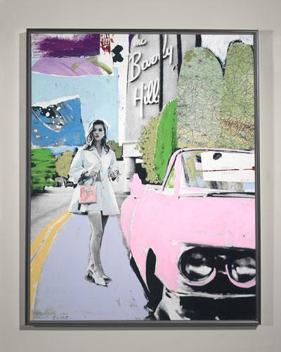 Pinky Dinky Blue Giclee Wall Art by Elige