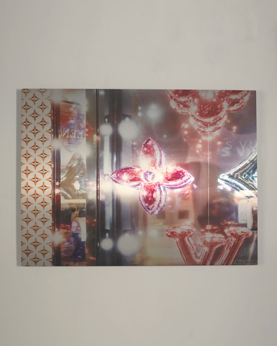 Las Vegas Louis Vuitton Window Reflection I Giclee Wall Art by Andrea Hillebrand
