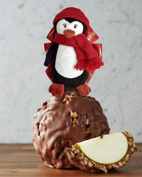 Mrs Prindable's Milk Chocolate Walnut Apple with Penguin