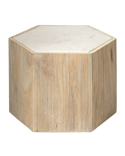 Medium Argon Hexagon Side Table