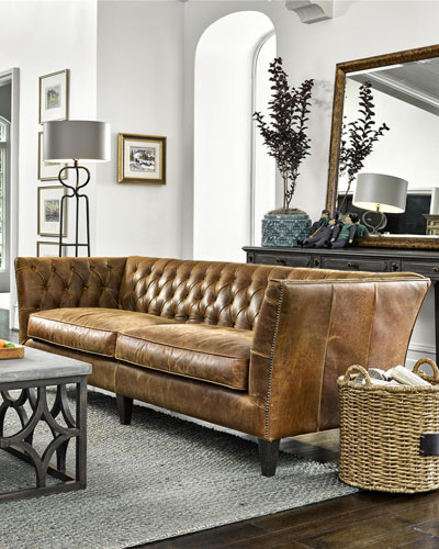 Schmidt Tufted Leather Sofa  98