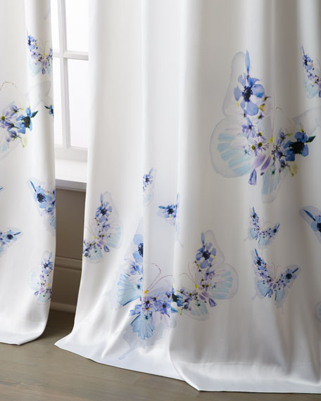"Minou Butterfly Curtain, 31"" x 120"""