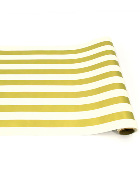 Hester & Cook Gold Stripe Paper Table Runner