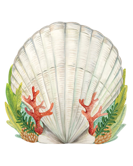 Set of 12 Shell Paper Placemat