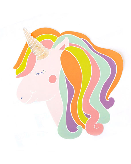 Set of 12 Unicorn Paper Placemat
