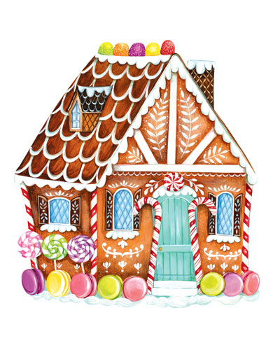 Set of 12 Gingerbread House Paper Placemat