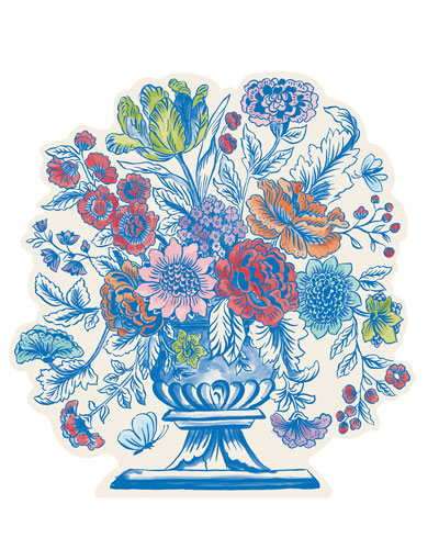 Set of 12 Jardiniere Paper Placemat