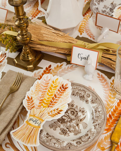 Golden Harvest Paper Table Setting Decor Collection