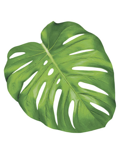 Set of 12 Monstera Leaf Paper Placemat