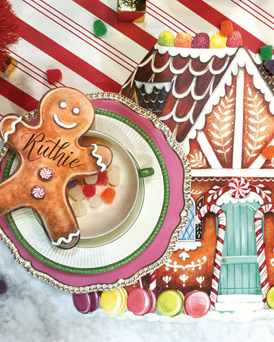 Gingerbread Table Setting Decor Collection