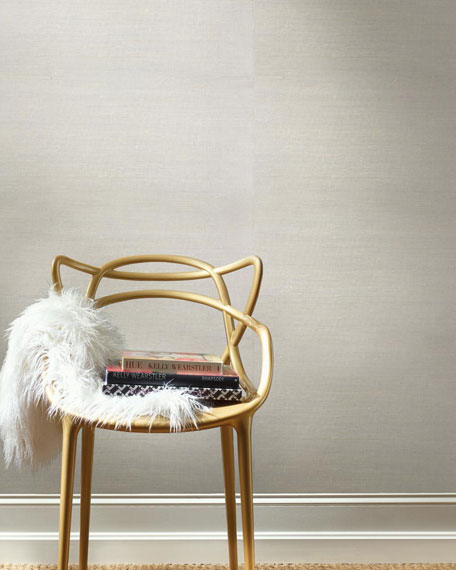 Metallic Jute Wallpaper
