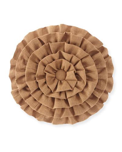 Panorama Ruffled Round Pillow