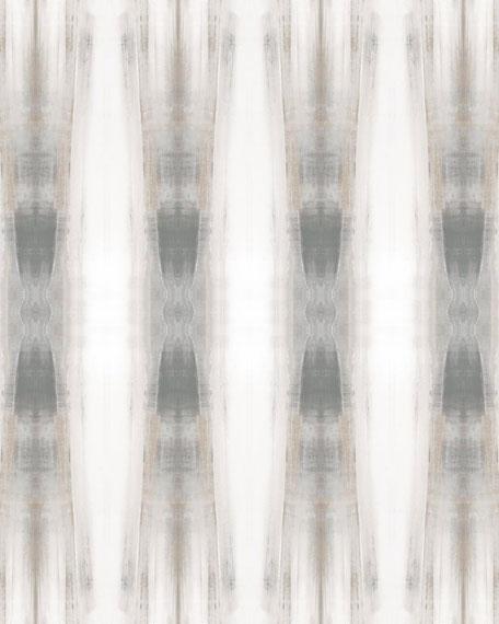 Beneath Textile Wallpaper Panels, Neutral