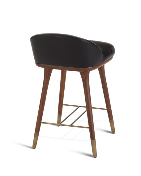Beaumont Leather Counter Stool