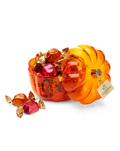 21-Piece Assorted G Cubes in Pumpkin Candy Dish