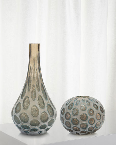 Look of Agate Hand-Blown Glass Vase I