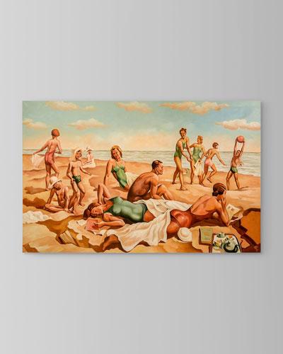 Beach Scene I Painting by Ronald Renaud