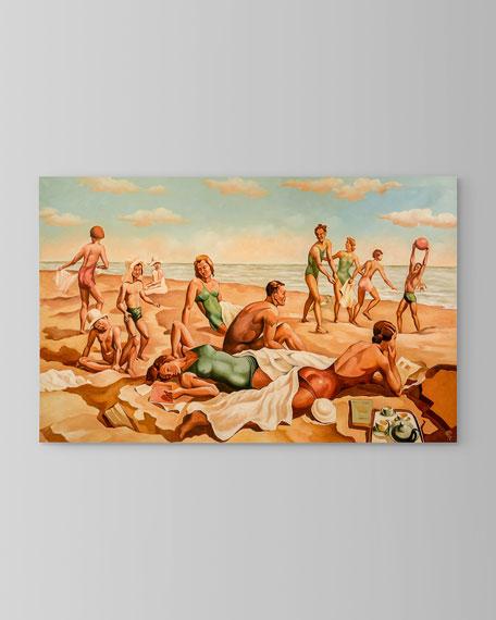 """""""Beach Scene I"""" Painting by Ronald Renaud"""