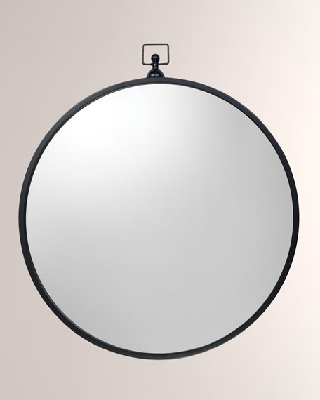 Zoe Round Metal Mirror